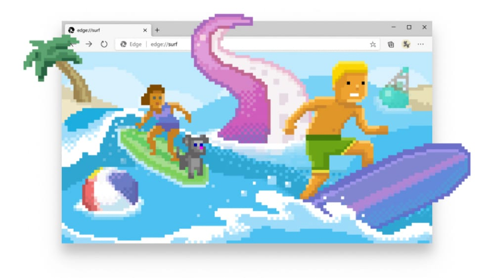 Microsoft Edge Surf Game