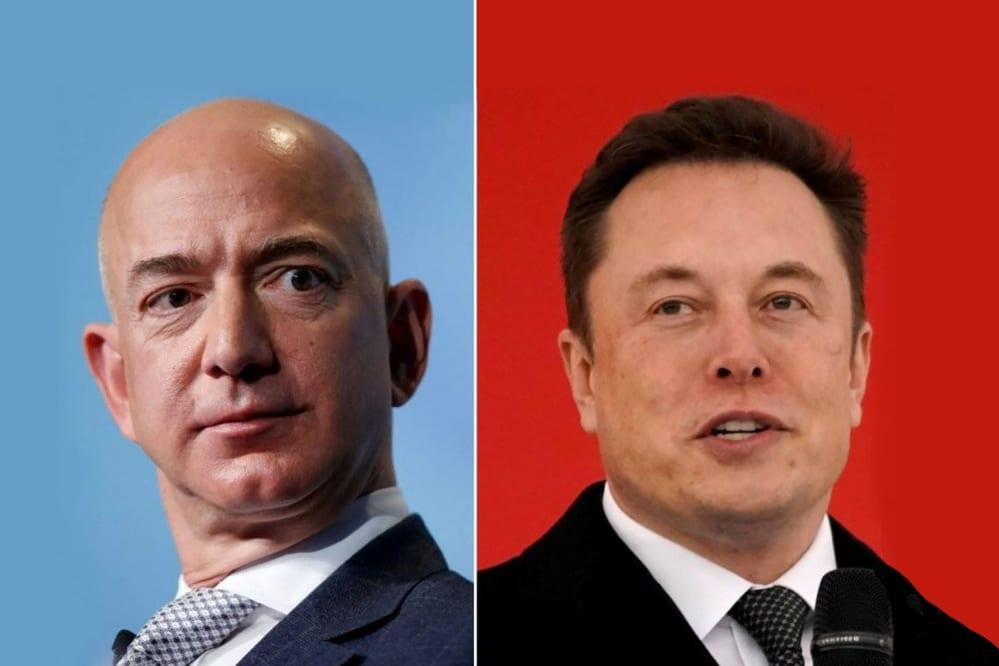 Elon Musk contro Jeff Bezos: