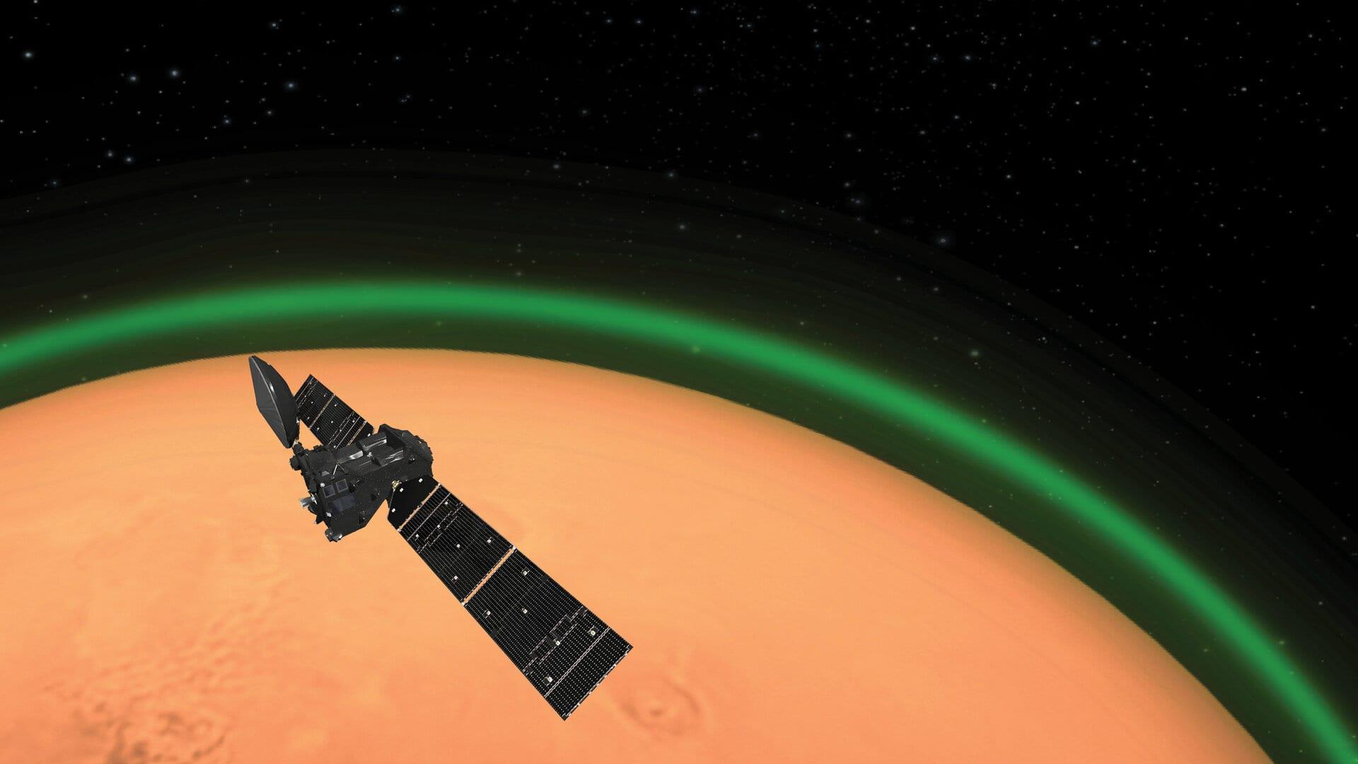 Linea verde su Marte: una scoperta utile per la calibrazione degli spettri delle lunghezze d'onda