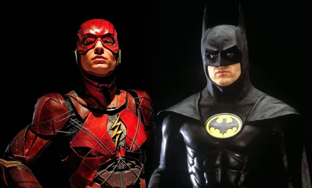 Michael-Keaton-Batman-Ezra-Millers-Flash