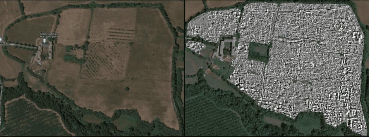 Falerii Novi: la città romana abbandonata riscoperta tramite misure Radar senza scavi