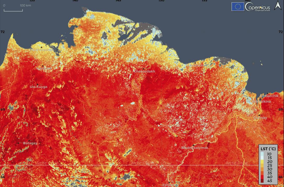 Artico: l'ondata di calore siberiana è allarmante