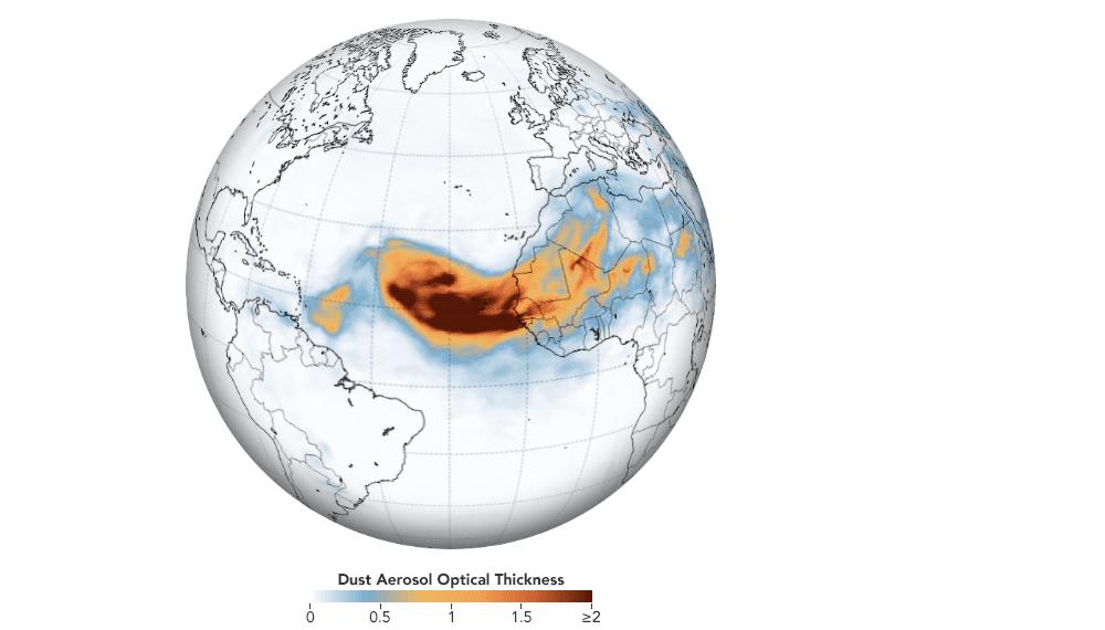 Tempesta di sabbia del Sahara raggiunge le coste americane: ecco le immagini