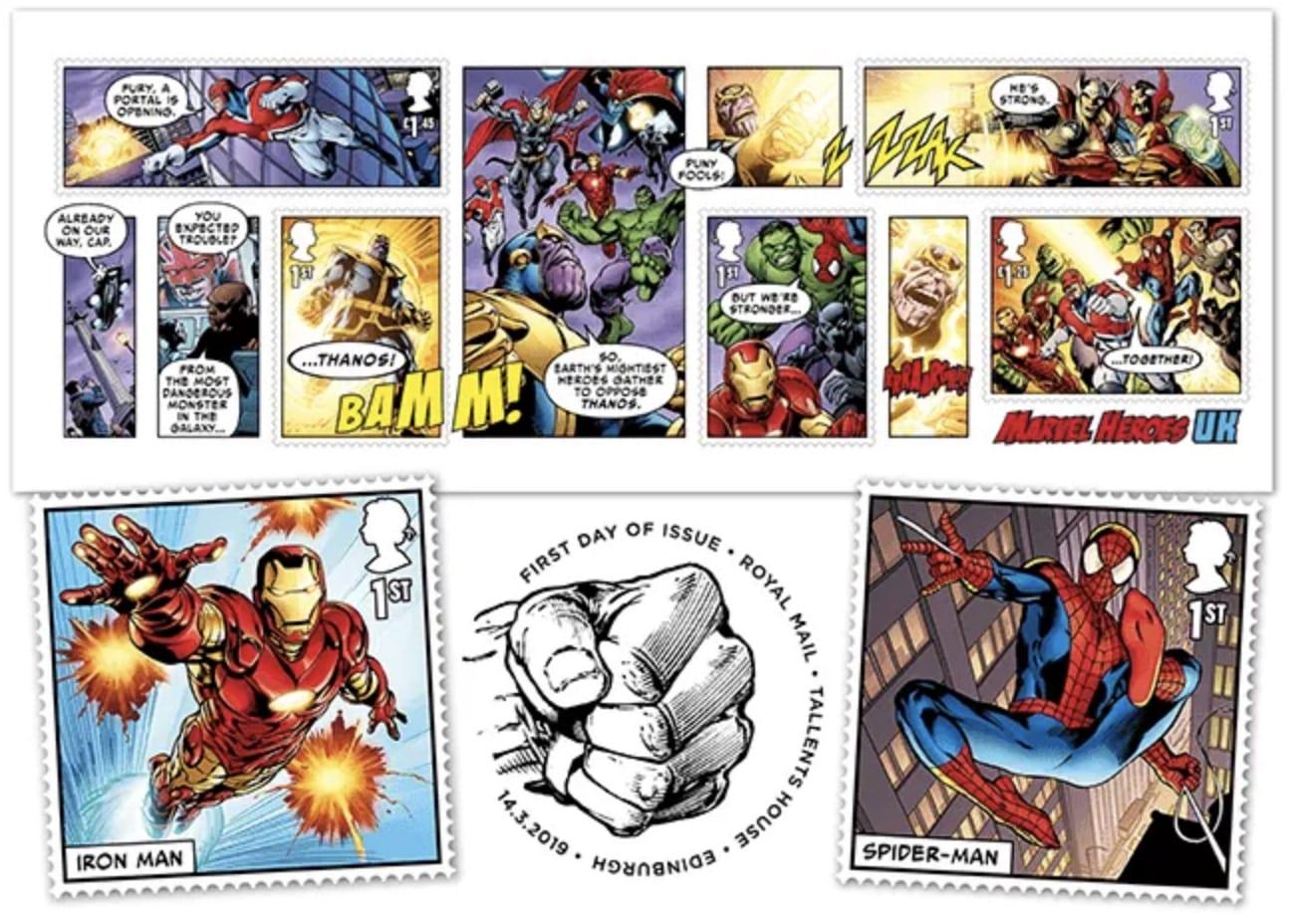 Royal Mail's Official Marvel Comics Stamps: ora disponibili i francobolli in cornice in edizione limitata
