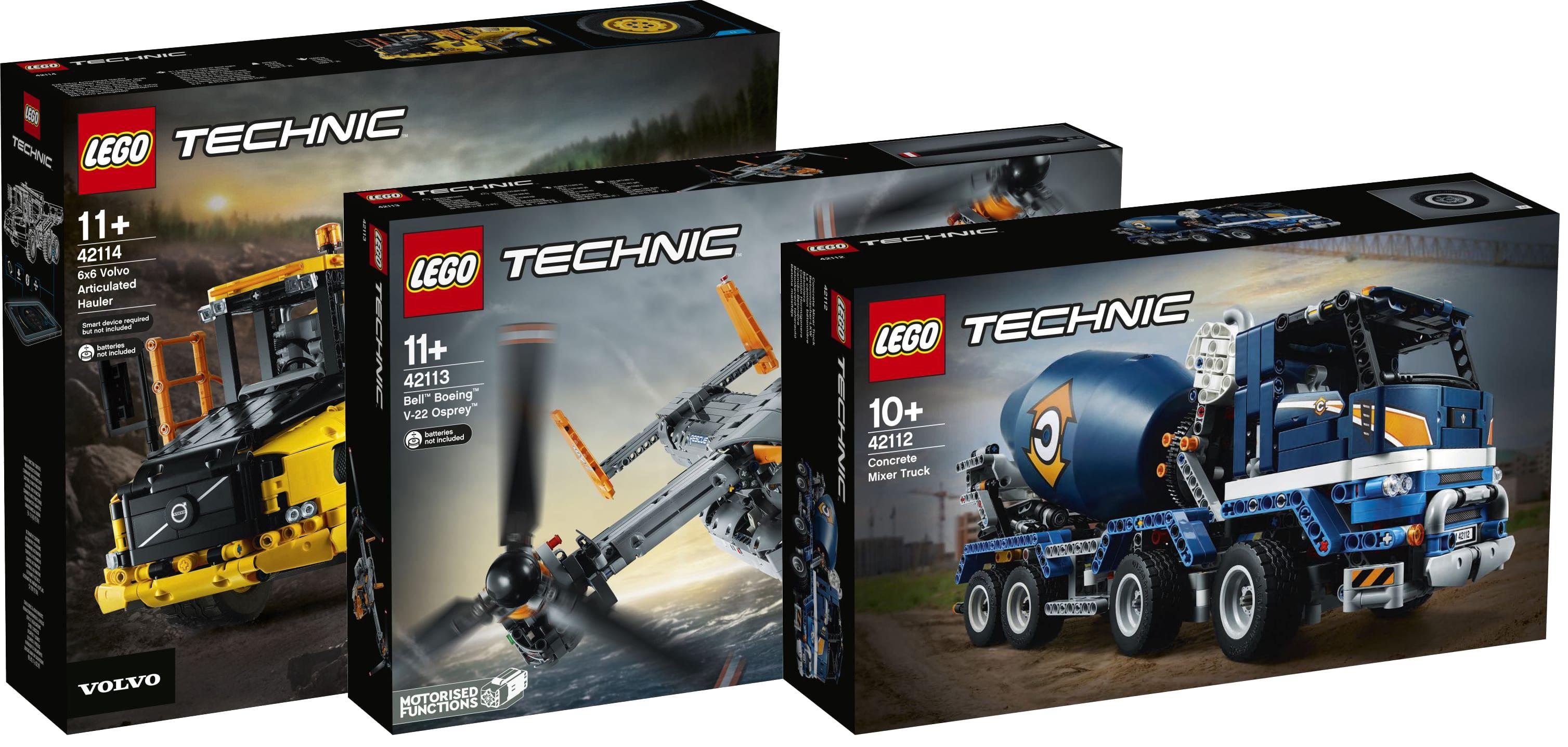 LEGO Technic, le immagini dettagliate dei tre nuovi set in arrivo