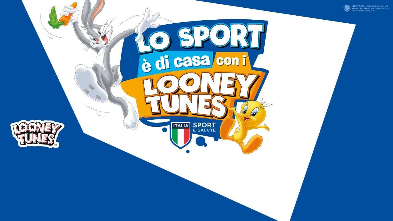 """Looney Tunes, """"Lo Sport è di casa"""": l'iniziativa di Warner e Sport e Salute"""