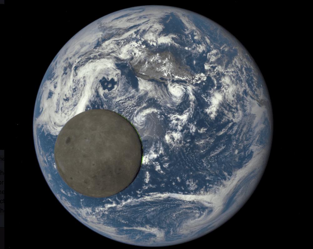 La Luna ha una sua scia, anche se solitamente non la notiamo