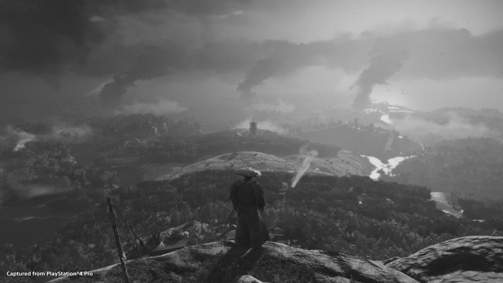 Ghost of Tsushima Black and White