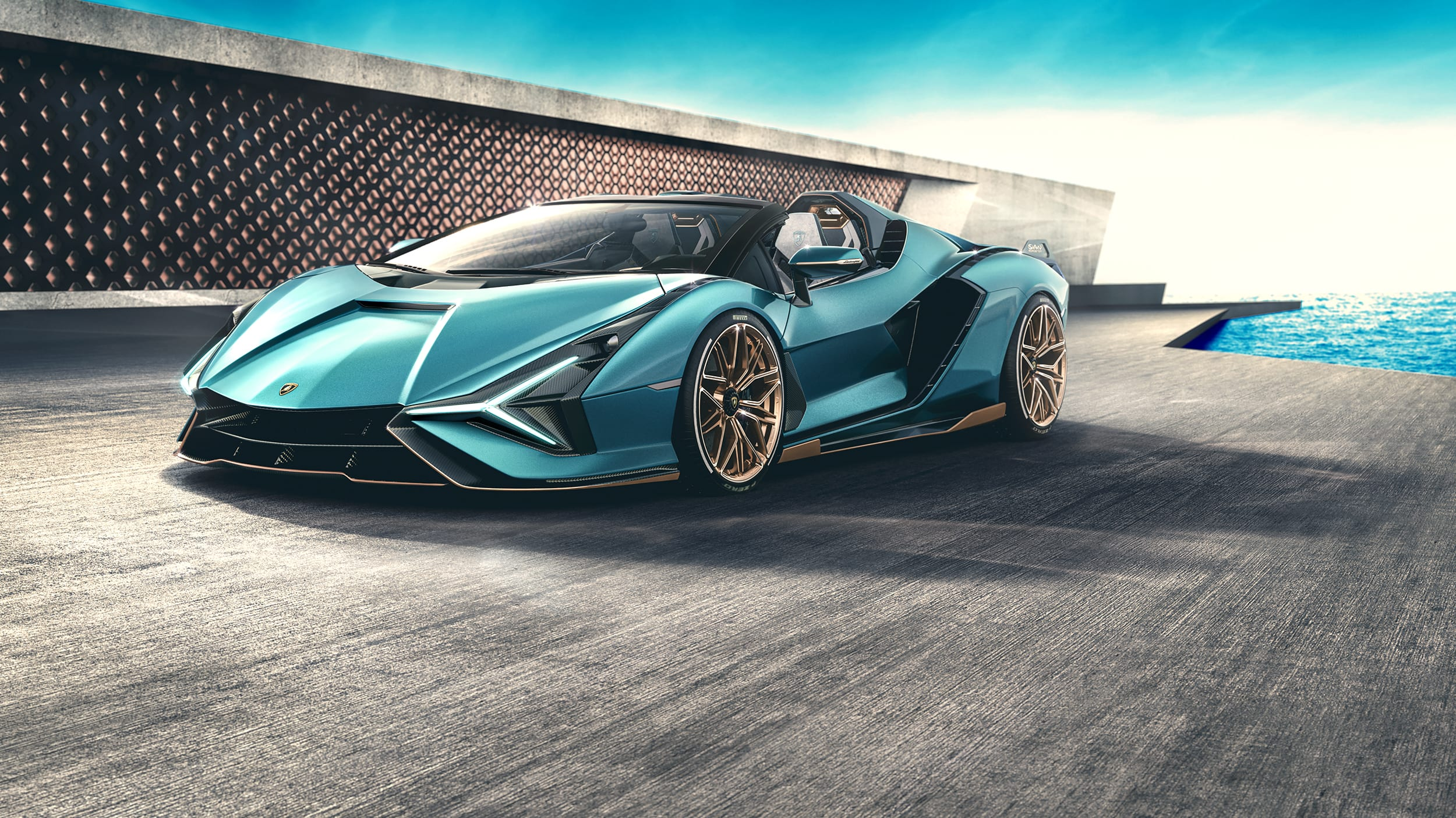 Lamborghini Sián Roadster: l'hypercar ibrida ora è anche a cielo aperto