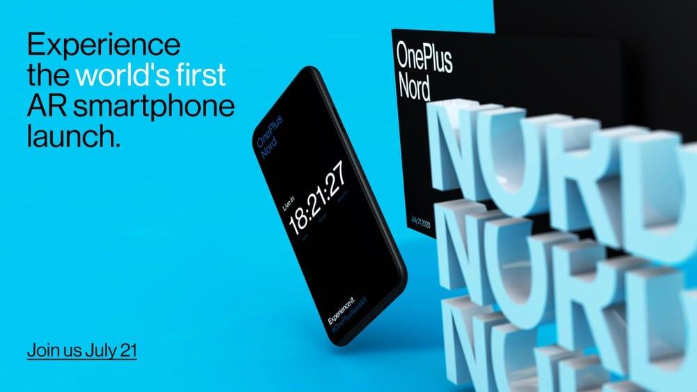OnePlus Nord sarà il primo smartphone presentato in realtà aumentata, appuntamento il 21 luglio