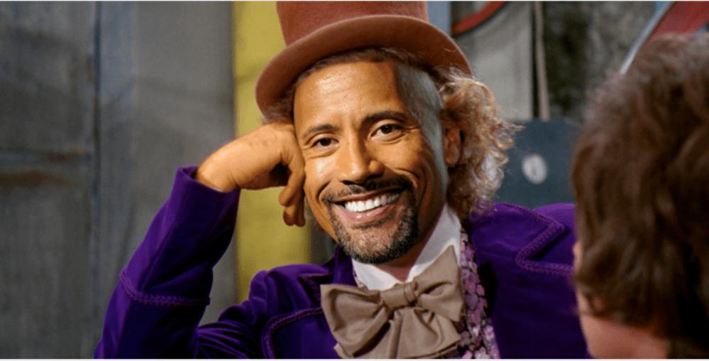 Willy Wonka, Dwayne Johnson