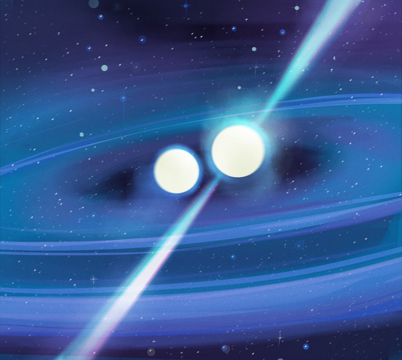 Sistema binario di stelle: può contenere due stelle di neutroni con masse molto diverse