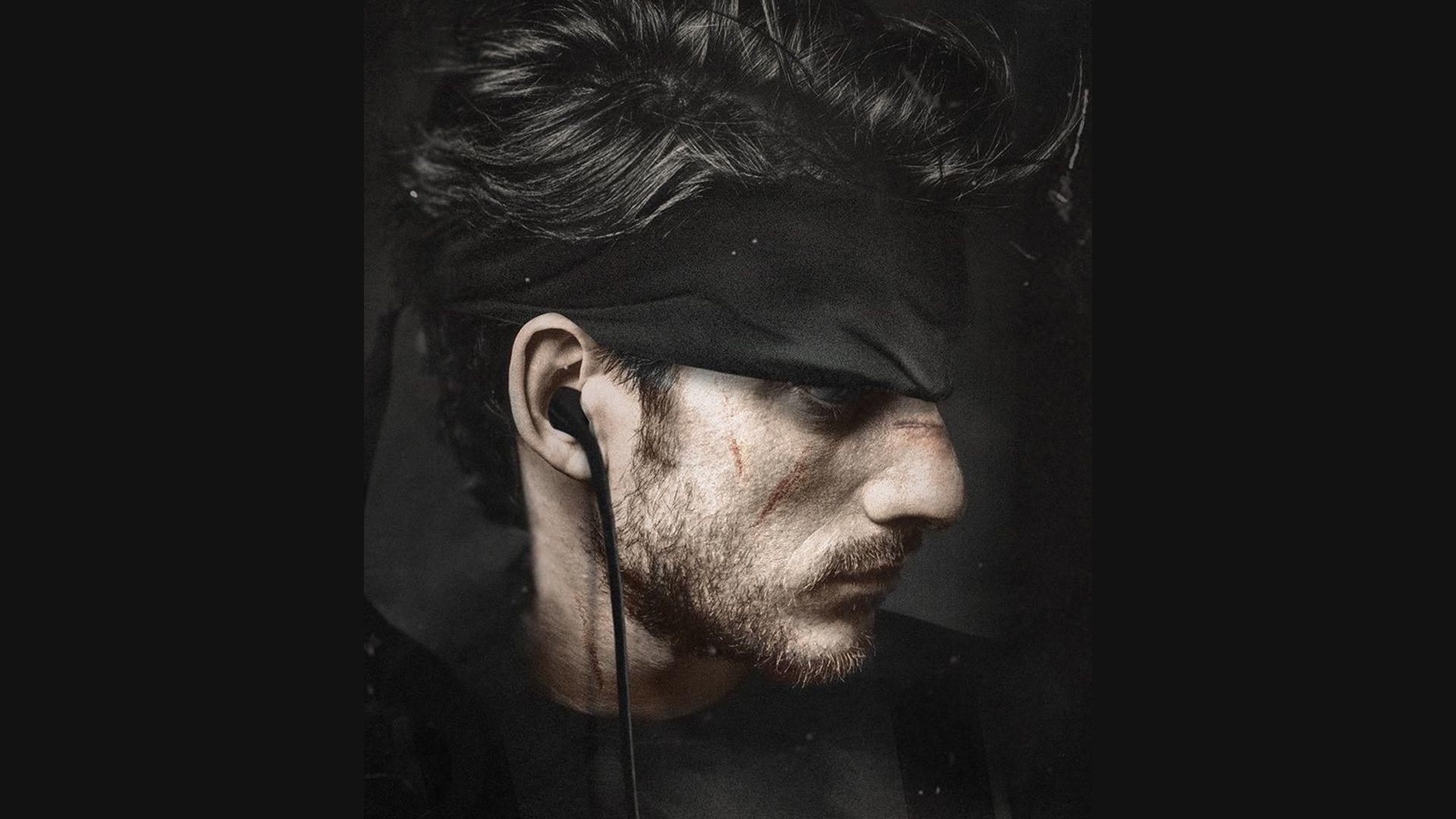 Luca Marinelli è Solid Snake nella fanart di BossLogic