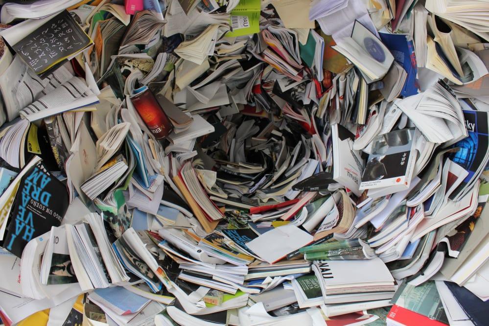 spirale di libri