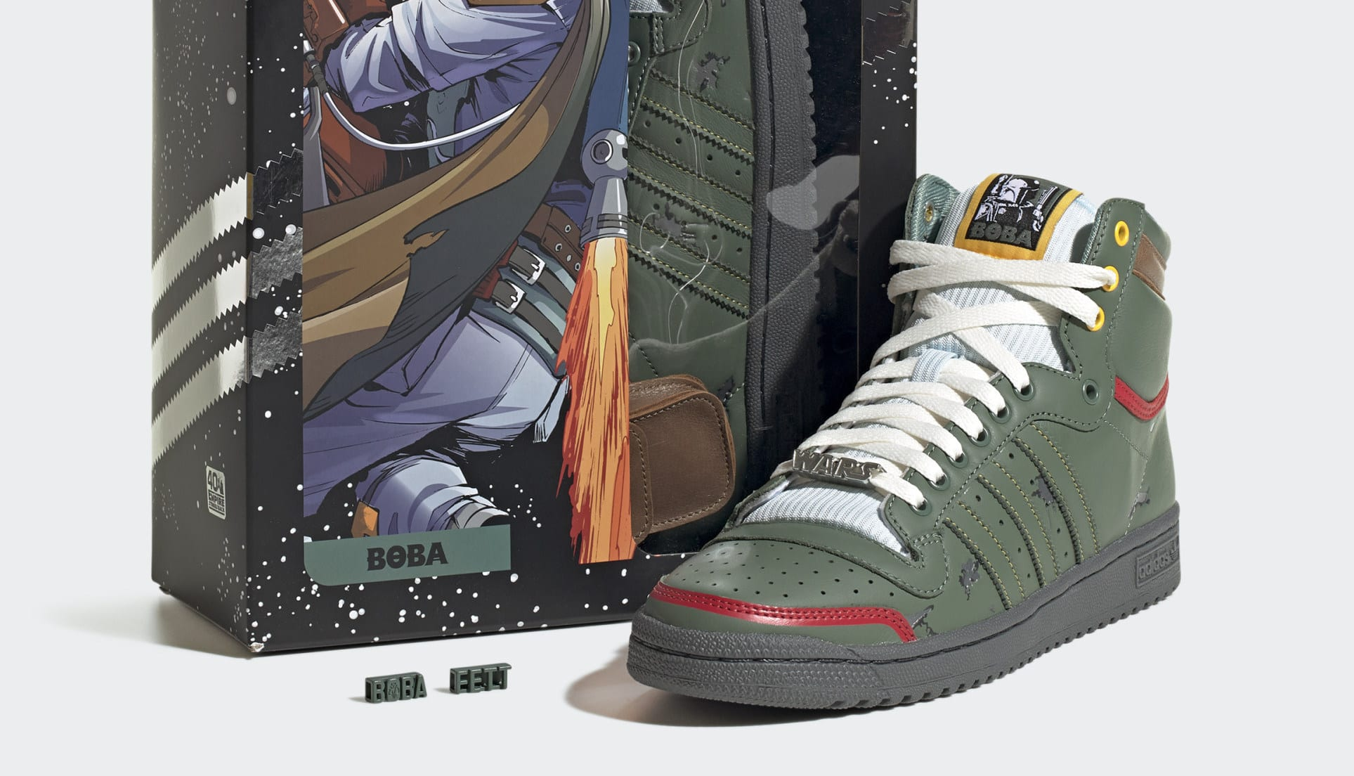 Adidas Boba Fett Top Ten Hi Star Wars disponibili dal 25 settembre anche in Italia