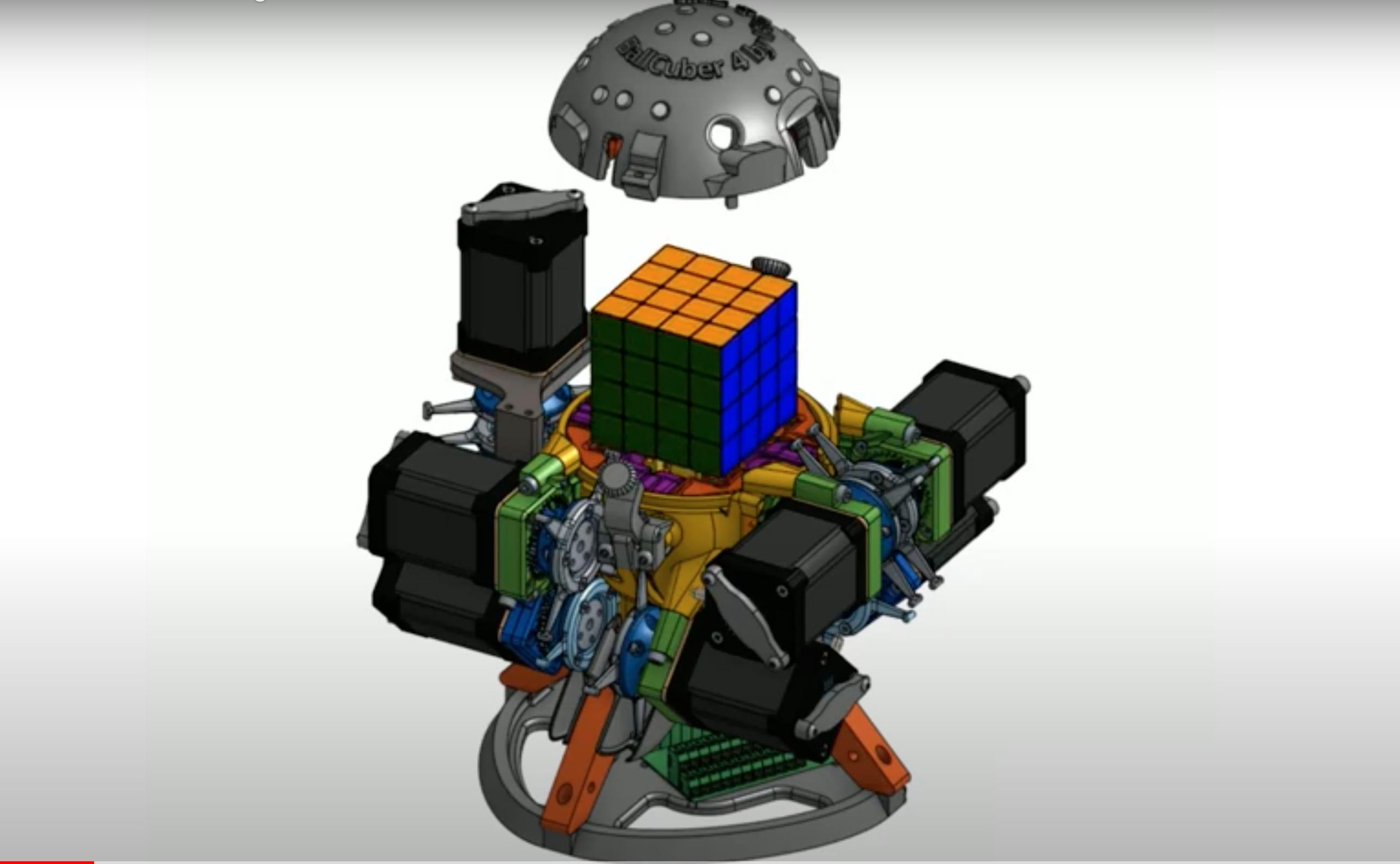 BallCuber: il robot che risolve un cubo di Rubik 4x4x4