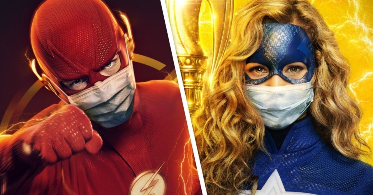 the-cw-dc comics poster maschere flash stargirl