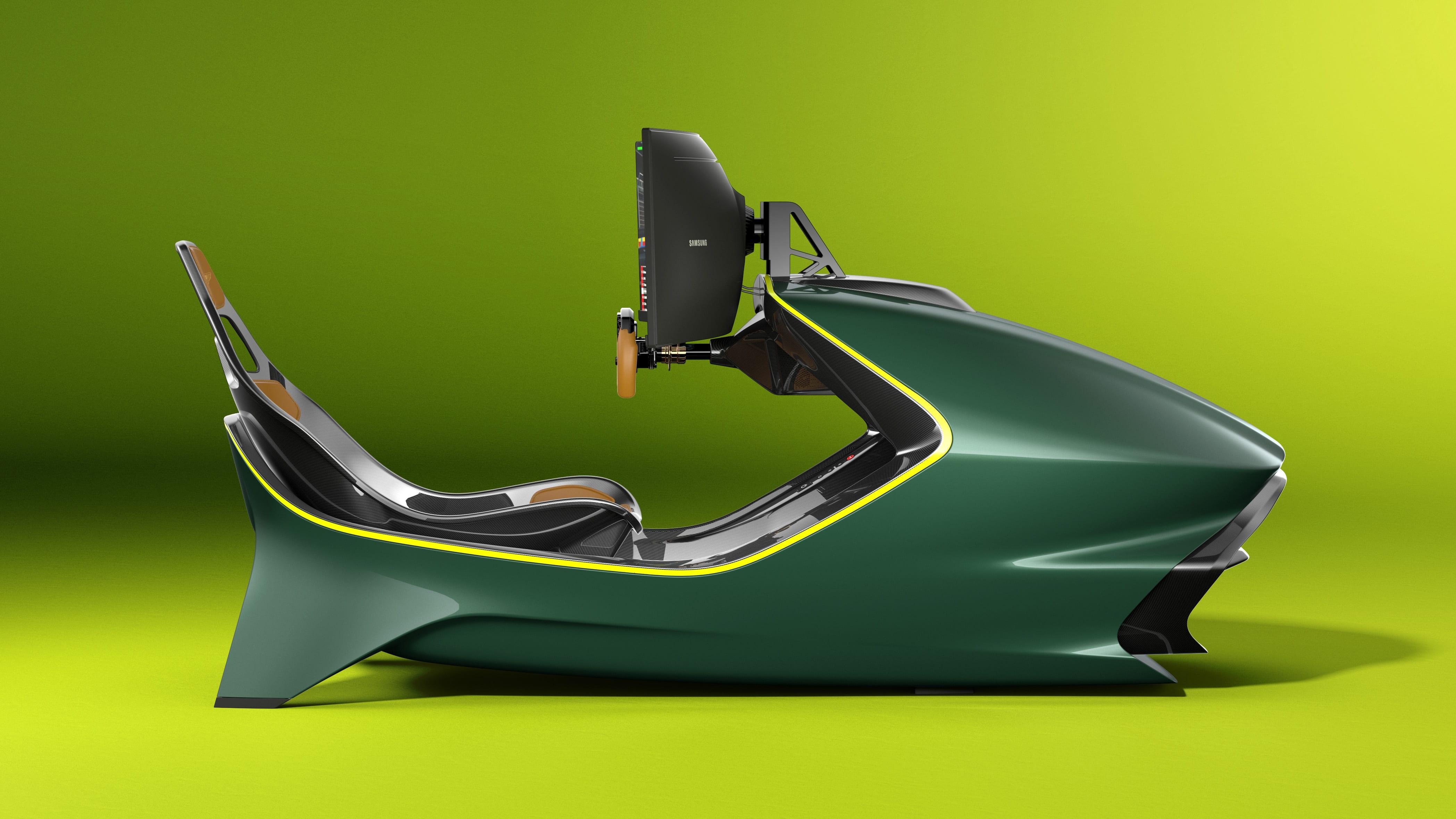 Aston Martin ha presentato una postazione da SimRacing da 60mila euro