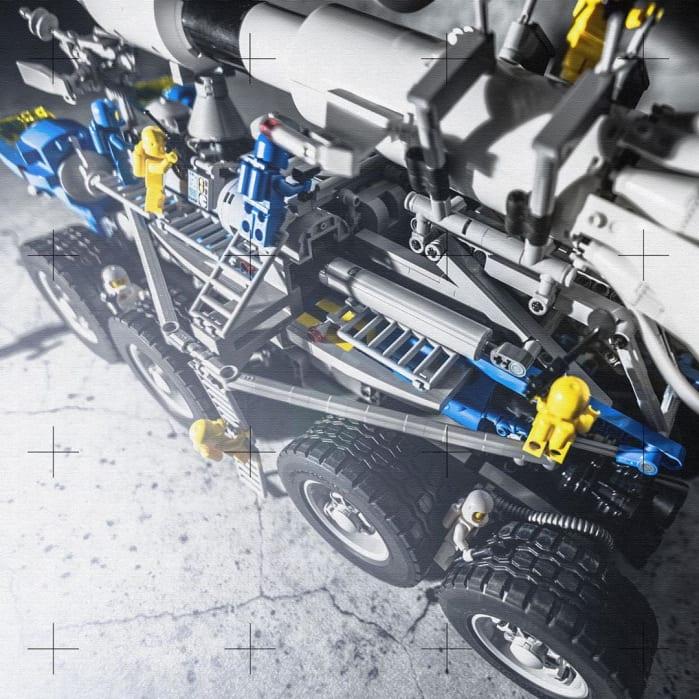 lego mobile rocket transport