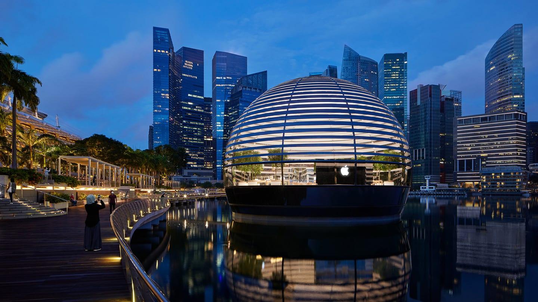 """Apple, a Singapore il primo store """"galleggiante"""" ispirato al Pantheon"""