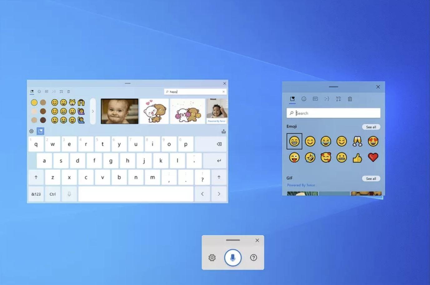 Windows 10 ha una nuova tastiera virtuale, con GIF e emoji