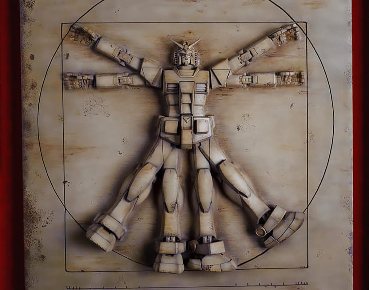 """Il Gundam Vitruviano di Fabio Franquillo vince il Premio """"Leonardo Da Vinci"""""""