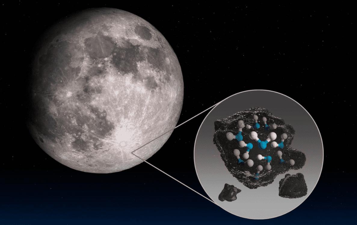 Luna: trovate le prime tracce d'acqua