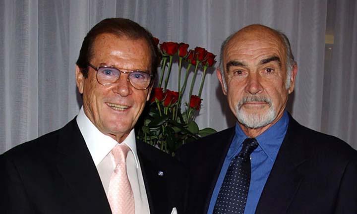 Sean Connery e Roger Moore
