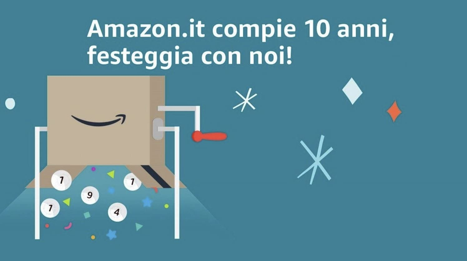 Amazon.it compie 10 anni e mette in palio 30.000€ in buoni regalo