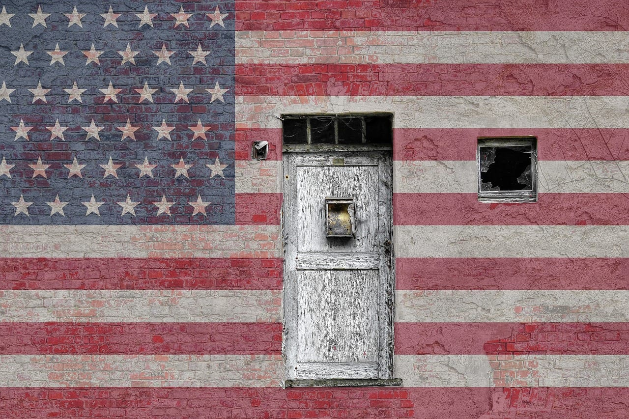 bandiera americana porta