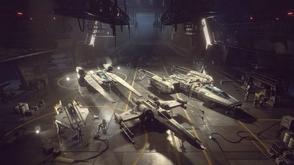 New Republic Hangar Star Wars Squadrons