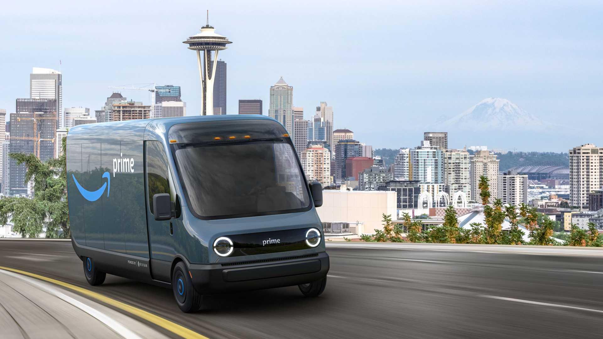 Amazon ha presentato un veicolo elettrico per le consegne progettato da Rivian