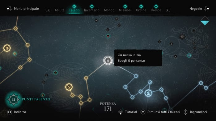 Assassin's Creed Valhalla Recensione Skill Tree