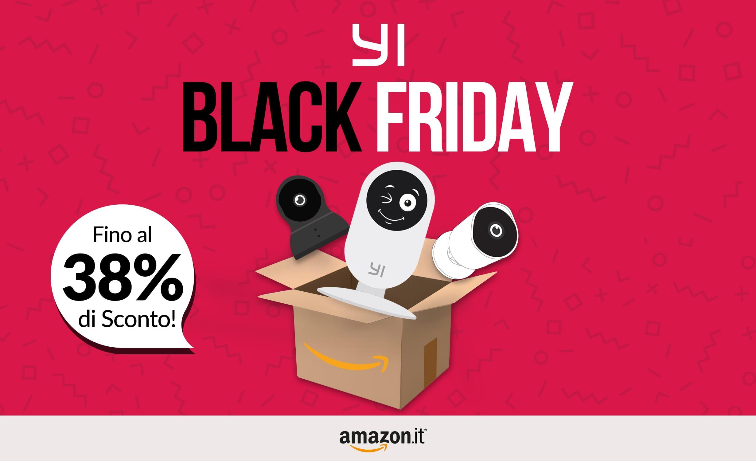 Black Friday di YI Technology: le migliori camere di sorveglianza smart in offerta