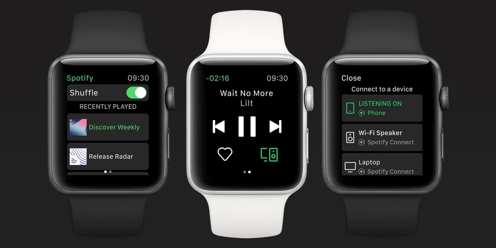 Spotify: le canzoni si possono ascoltare direttamente su Apple Watch, senza iPhone