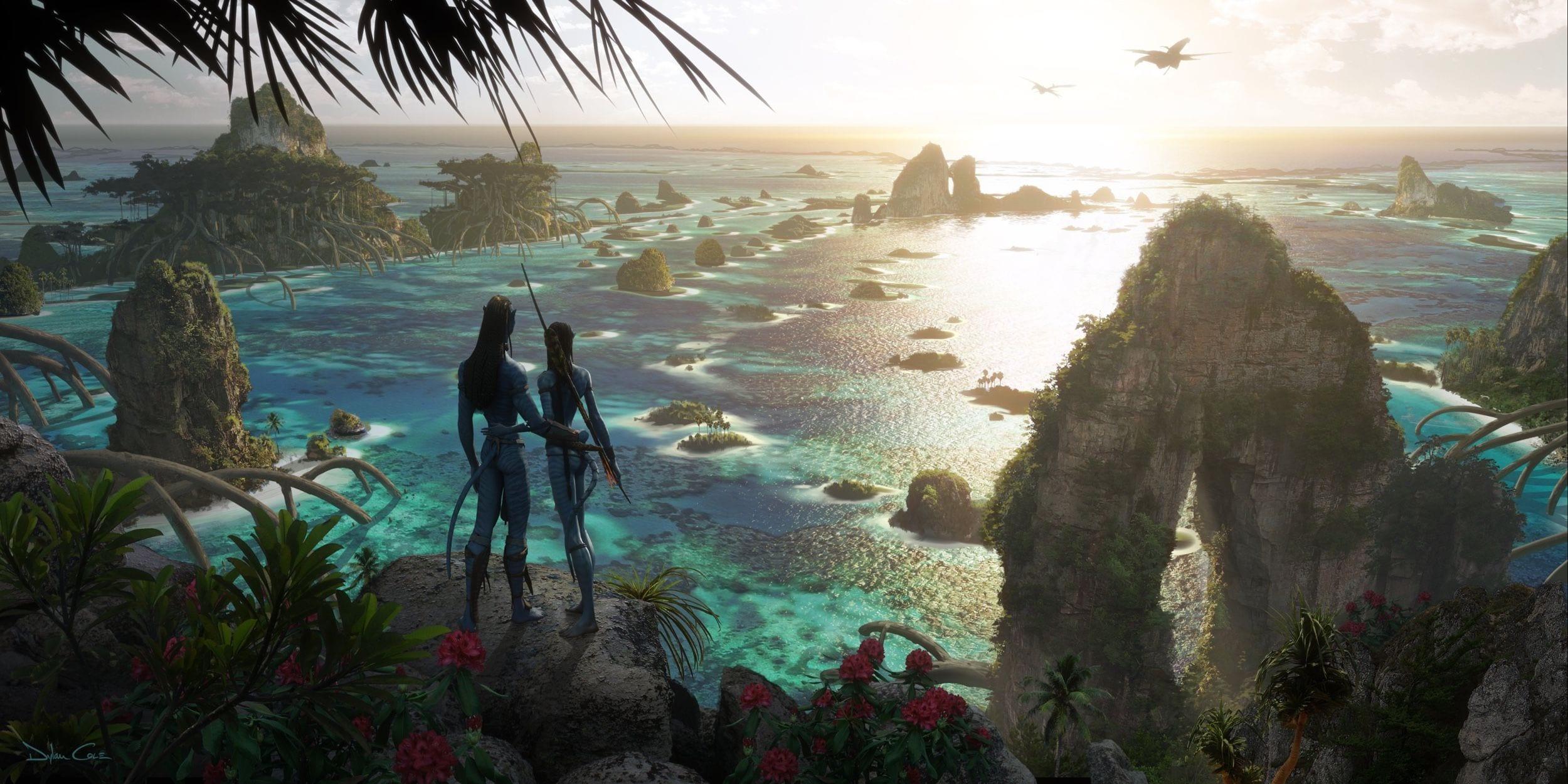 Avatar 2: la concept art mostra i paesaggi acquatici di Pandora