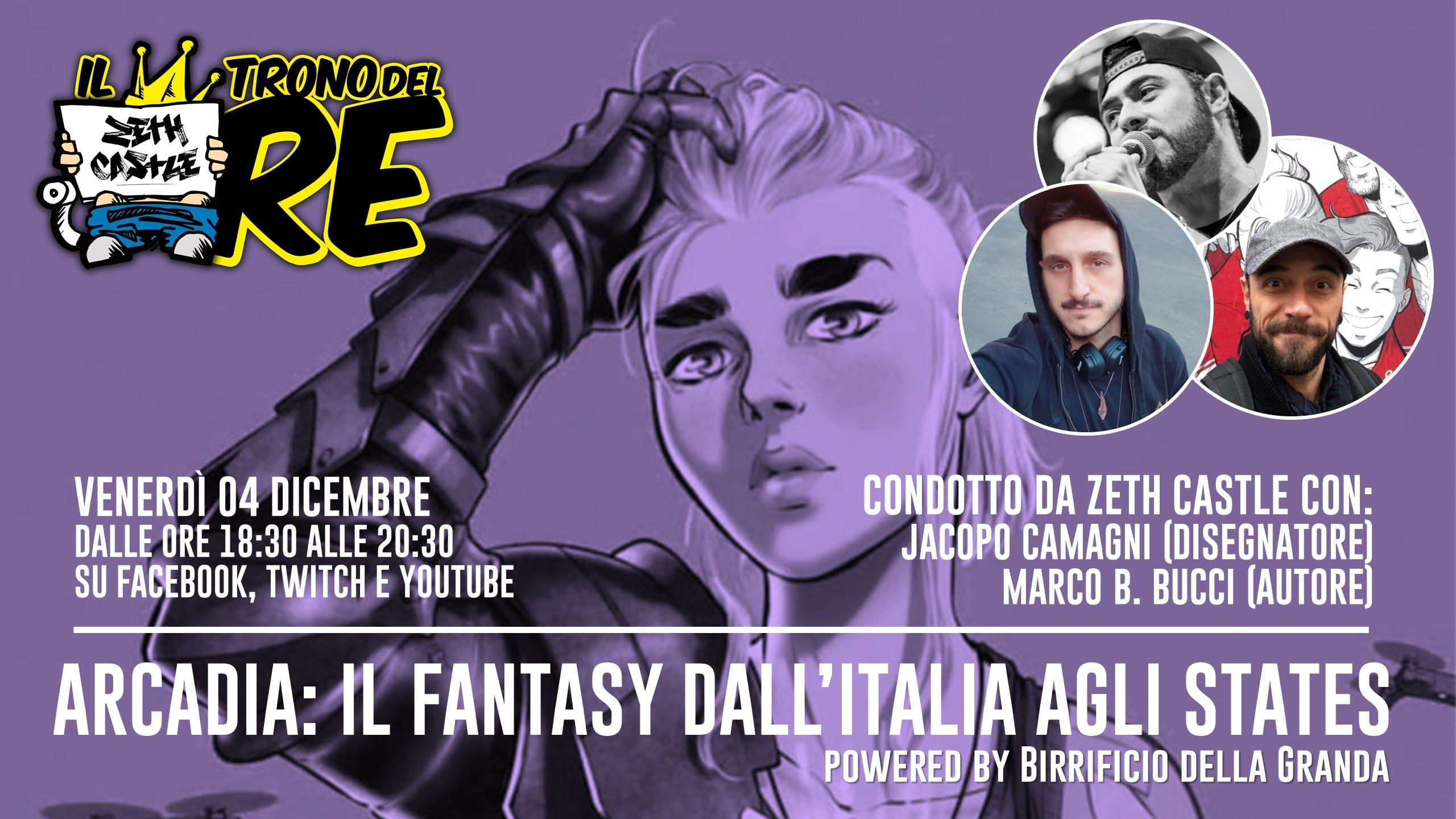 Il Trono del Re: Marco B Bucci e Jacopo Camagni raccontano Nomen Omen e Arcadia, tra fumetto e GDR.