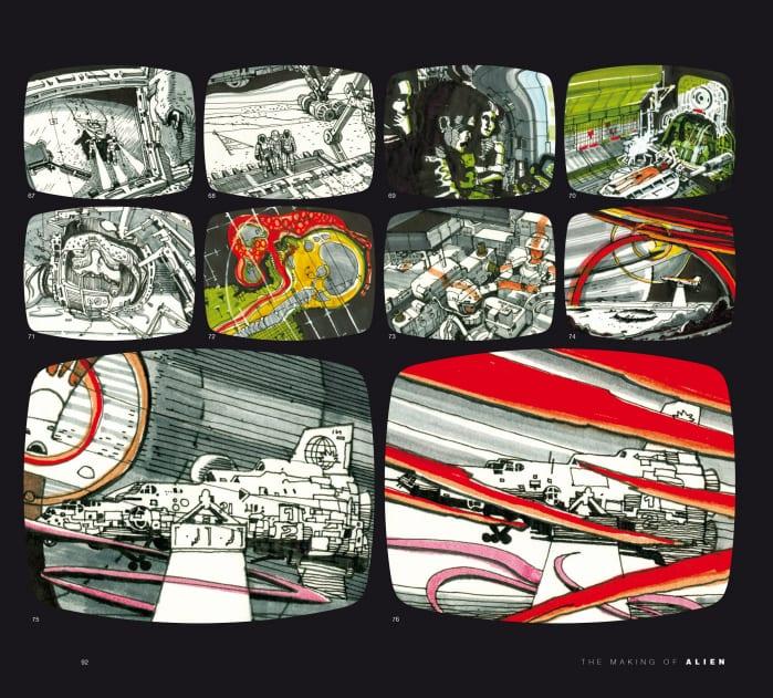 Alien dietro le quinte - storyboard