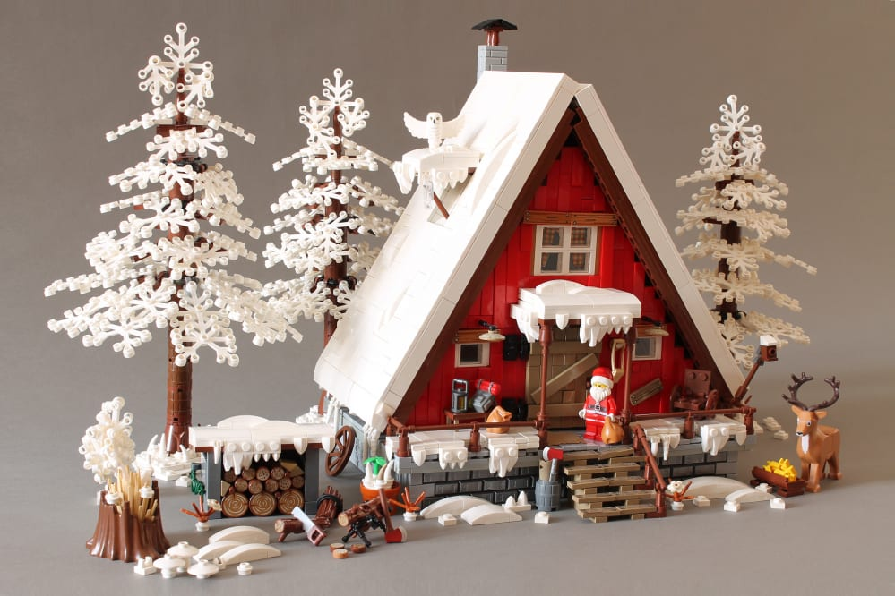 LEGO A-Frame natalizia