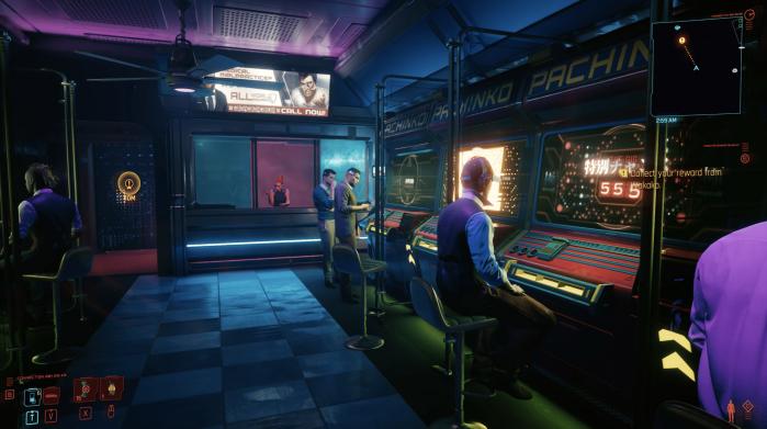 Cyberpunk 2077 Stadia pachinko
