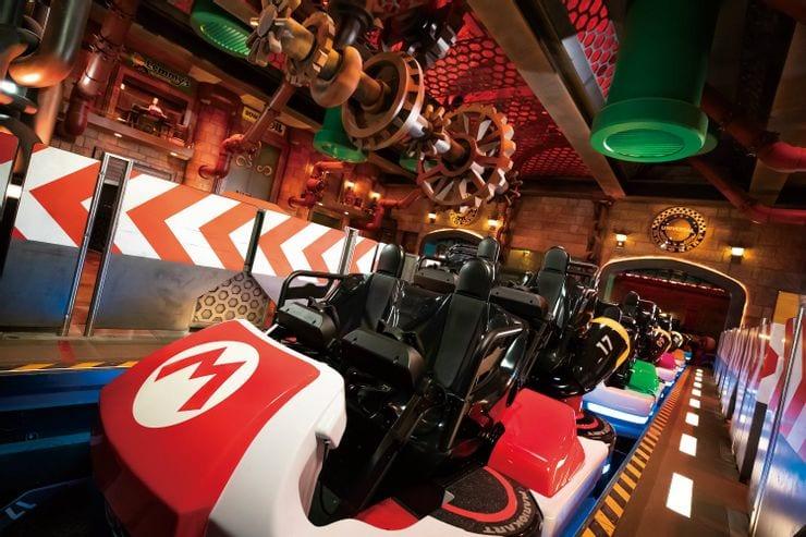 Super Nintendo World: prime immagini delle montagne russe di Mario Kart