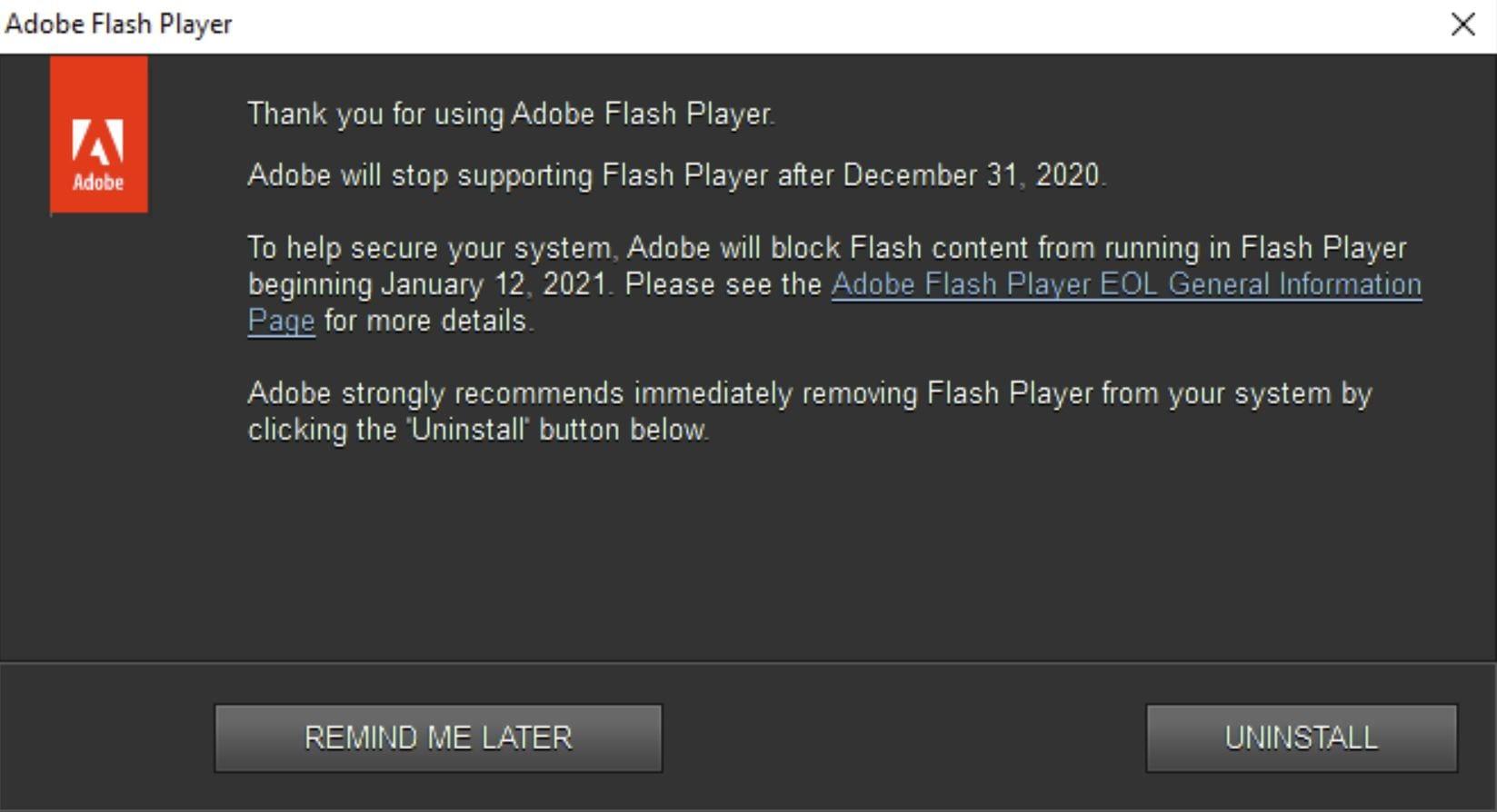 Adobe Flash ci dà l'addio, oggi l'ultimo giorno prima del pensionamento