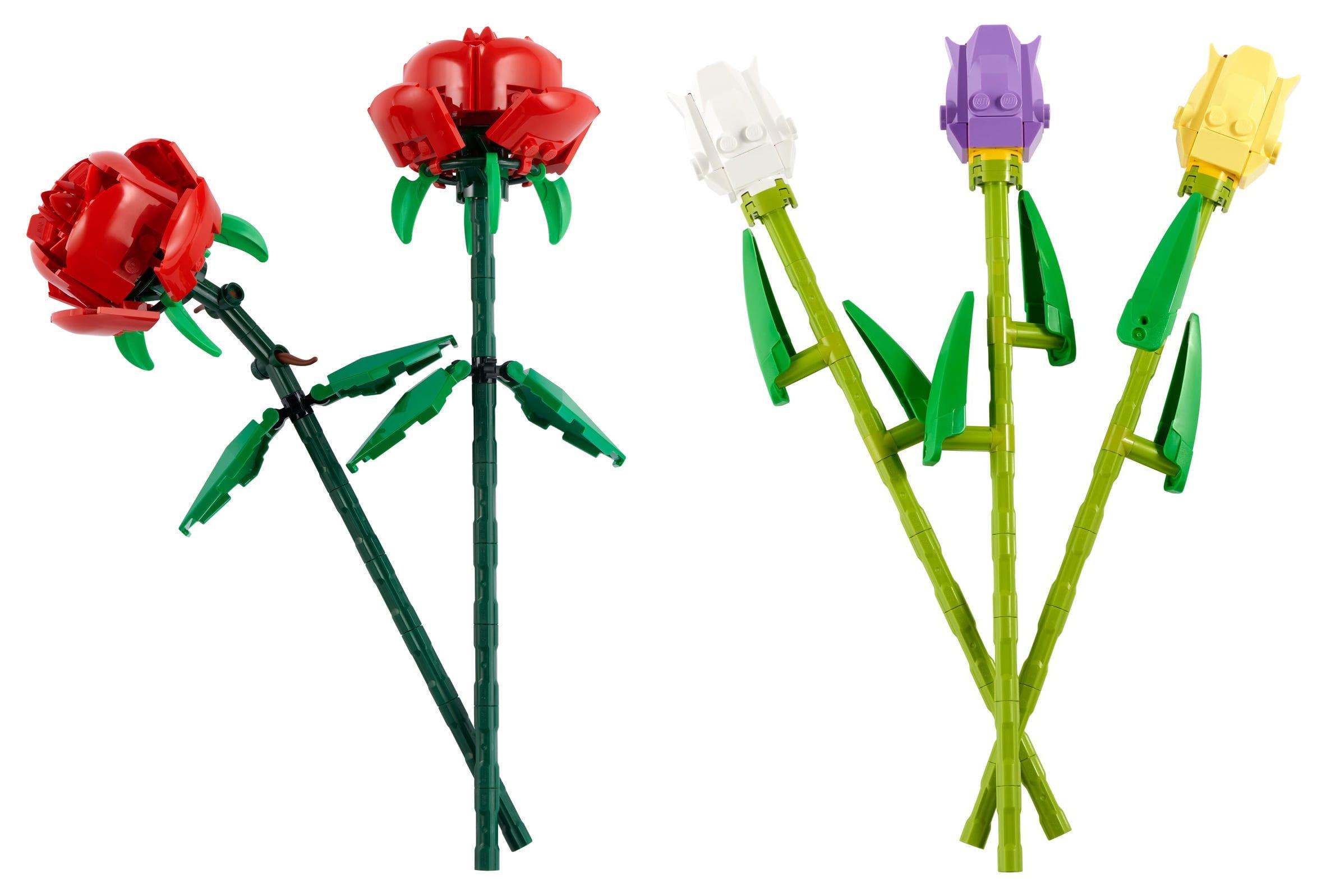 lego rose e tulipani
