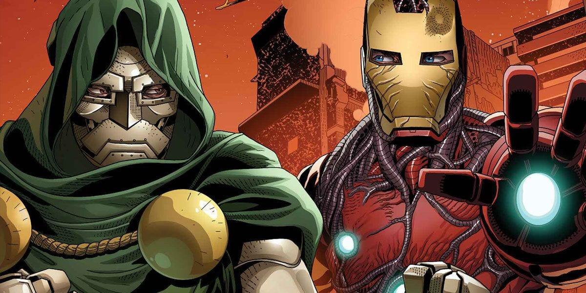 King in Black: le prime tavole dello speciale su Iron Man e Doctor Doom