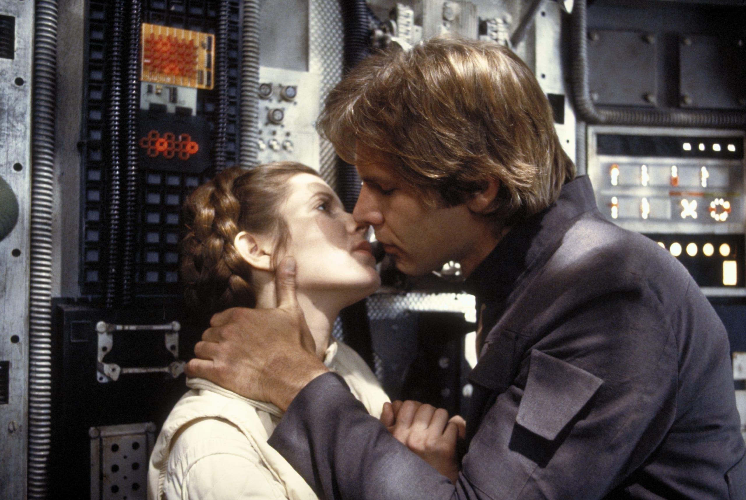 Star Wars: il bacio di Han Solo e Leila colpisce ancora