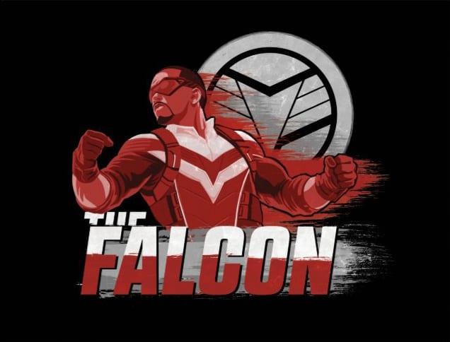 poster ed artwork di The Falcon and the Winter Soldier.