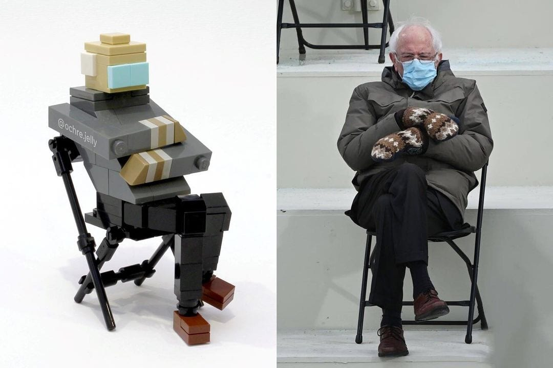 LEGO Bernie Sanders, dopo i meme arriva la MOC di Ochre Jelly