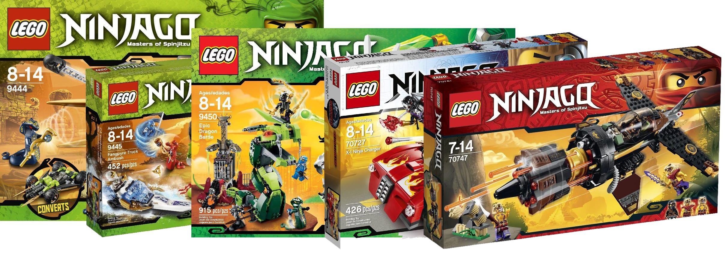 Prototipi LEGO Ninjago, le immagini dei prototipi e la versione finale di alcuni set del tema