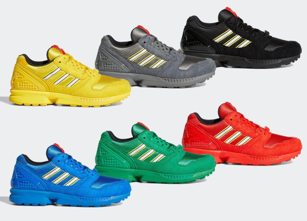 LEGO Adidas ZX 8000, in arrivo nuove sei colorazioni disponibili per tutti