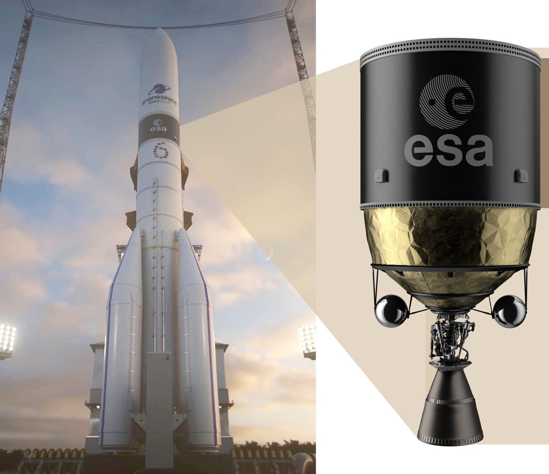 ESA, bene i primi test dei serbatoi per razzi in fibra di carbonio